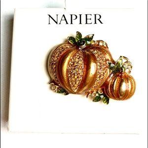 Fall Pumpkin Brooch by Napier